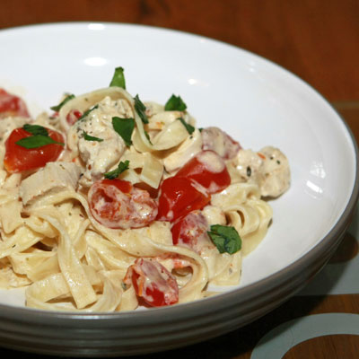 Creamy Chicken and Tomato Pasta