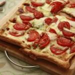 Tomato, Mozarella and Basil Tart