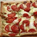 Tomato, Basil and Mozarella pie