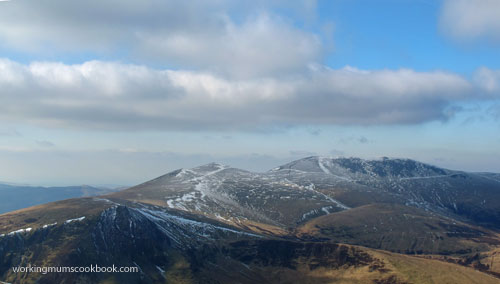 View of Skiddaw from Blencathra