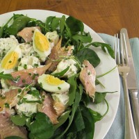 Smoked trout with potato salad