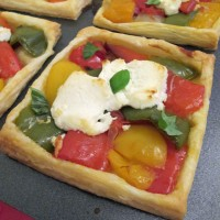 Roast Pepper and Goats Cheese Tarts