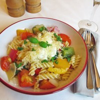 Roast Vegetables with pasta