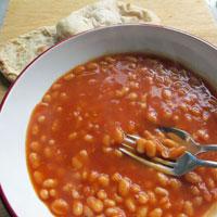 Baked Beans on Flatbread