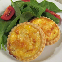 Ham and sweetcorn mini-quiches