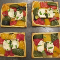 Goats Cheese and Roast Pepper Tarts