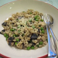 Oven-baked Chicken and Leek Orzotto