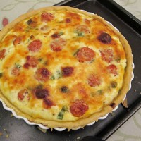 Roast Tomato and Feta Quiche