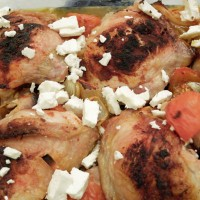 Baked Paprika Chicken with feta and new potatoes